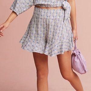 Maeve Blue Pineapple Shorts